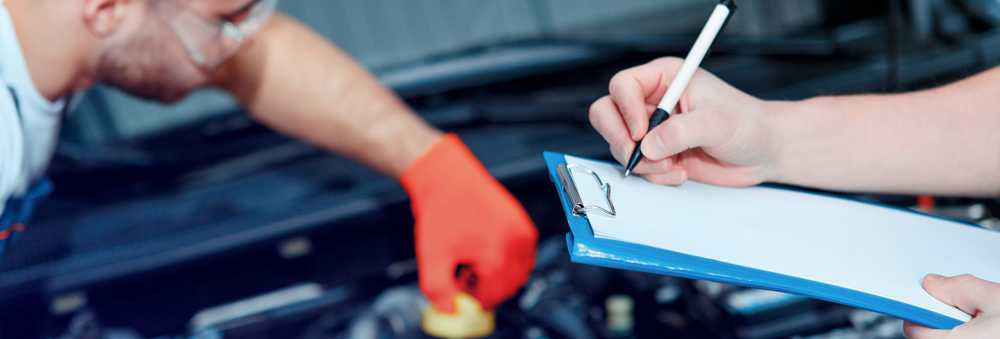 Mechanics checking off the MOT Test - MOT Westcliff on Sea | Same day MOT's for Westcliff, Southend and Leigh at Inverness Garage